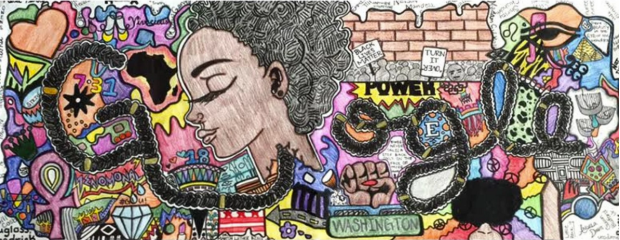 Black Lives Matter Doodle Google Akilah Johnson DC Blaque Coffee Blog